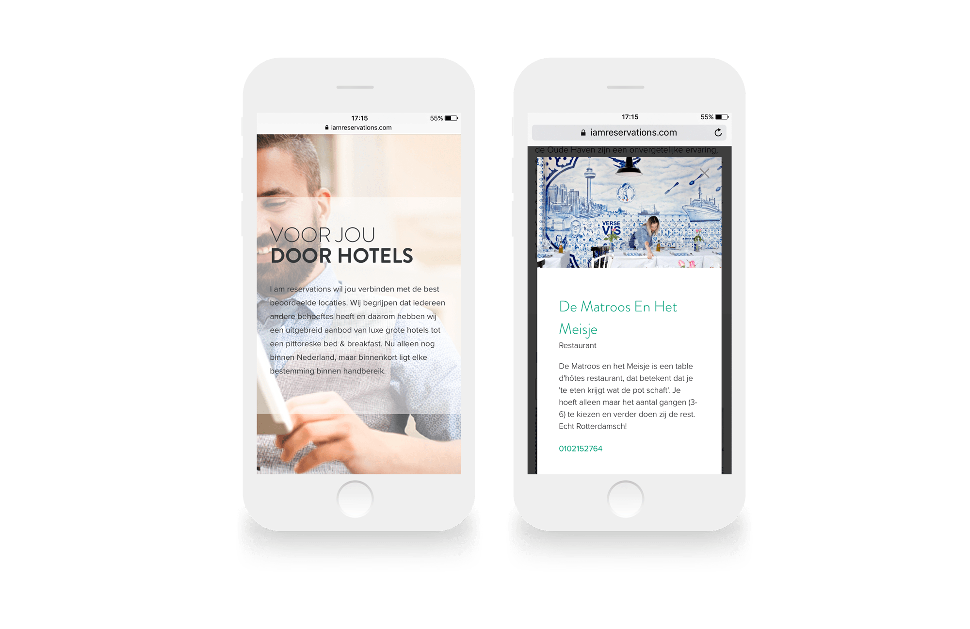 Content marketing en web development IamReservations Responsive Hotel Reserveringssite IamReservations DutchGiraffe