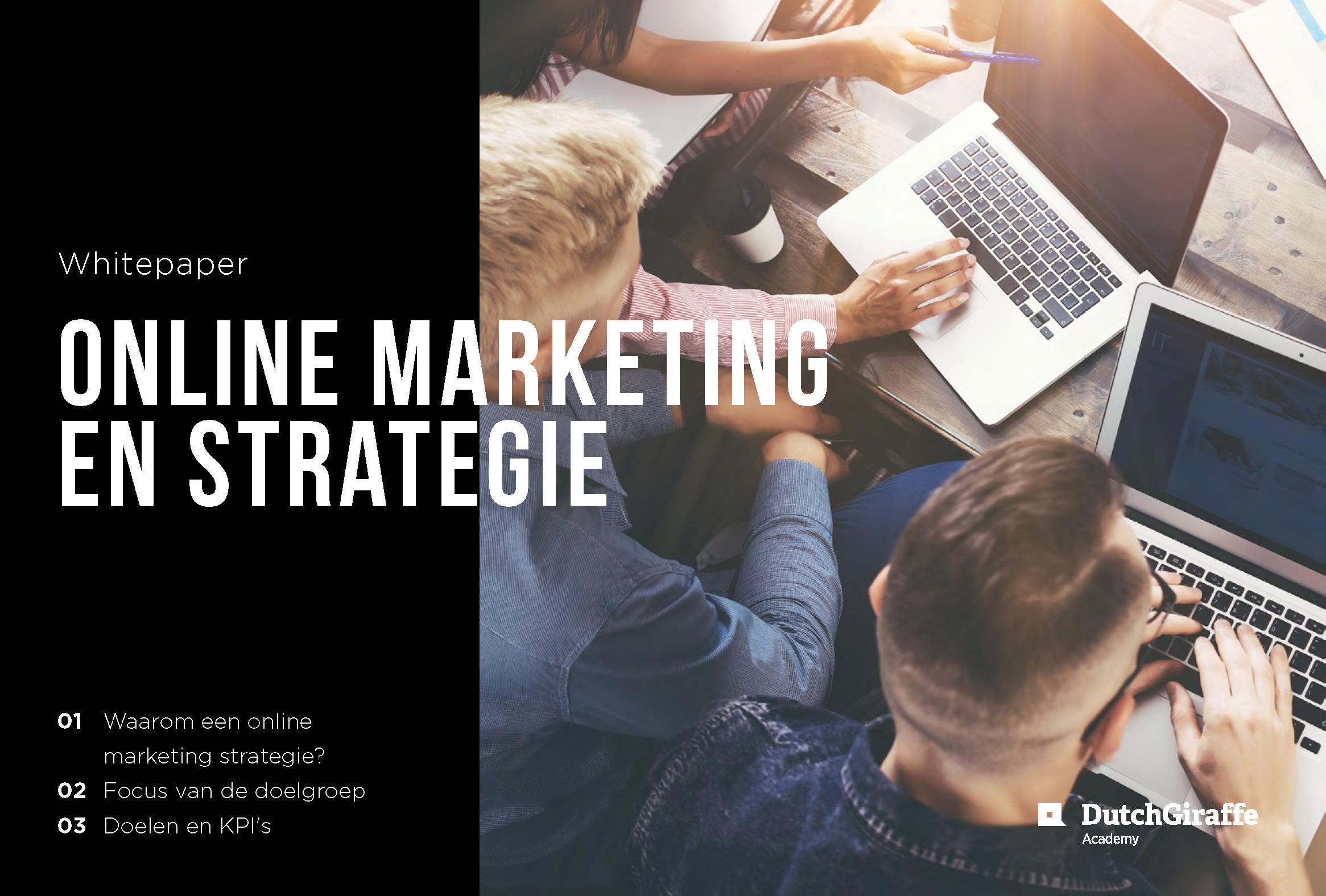 Whitepaper online marketing strategie – Dutchgiraffe | Digital Creatives