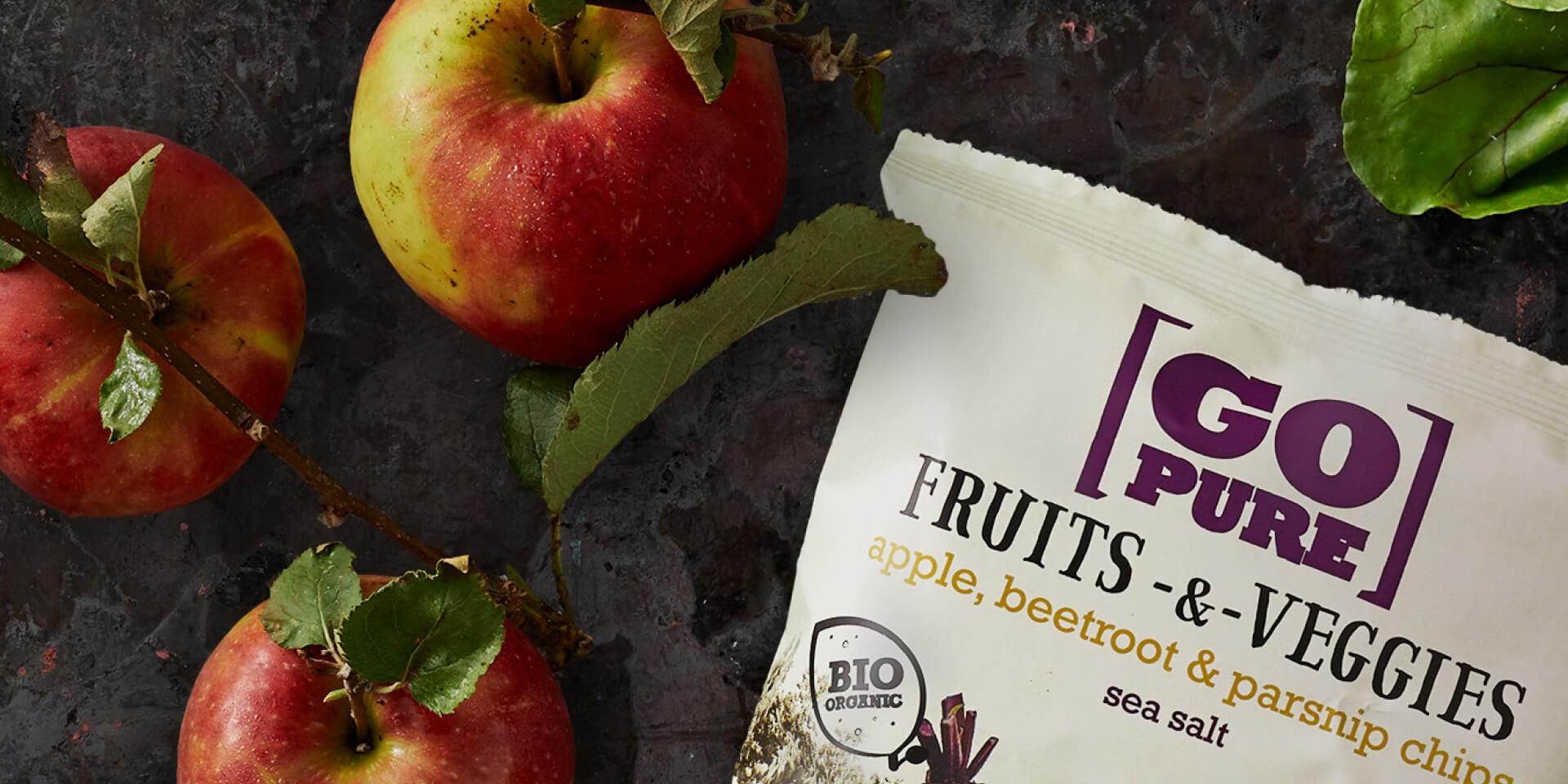 GoPure fruits & veggies chips banner – Dutchgiraffe   Digital Creatives
