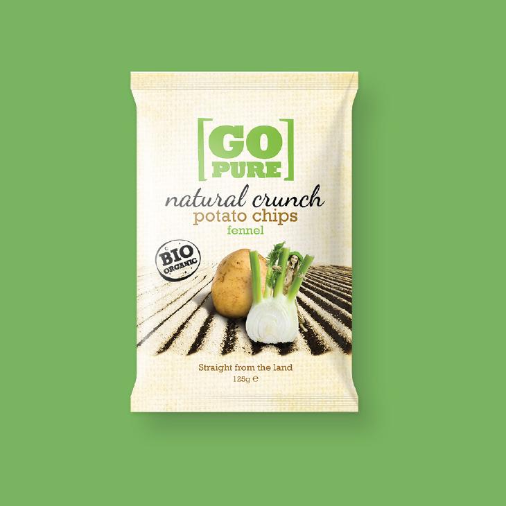 GoPure natural crunch potato chips verpakking – Dutchgiraffe   Digital Creatives
