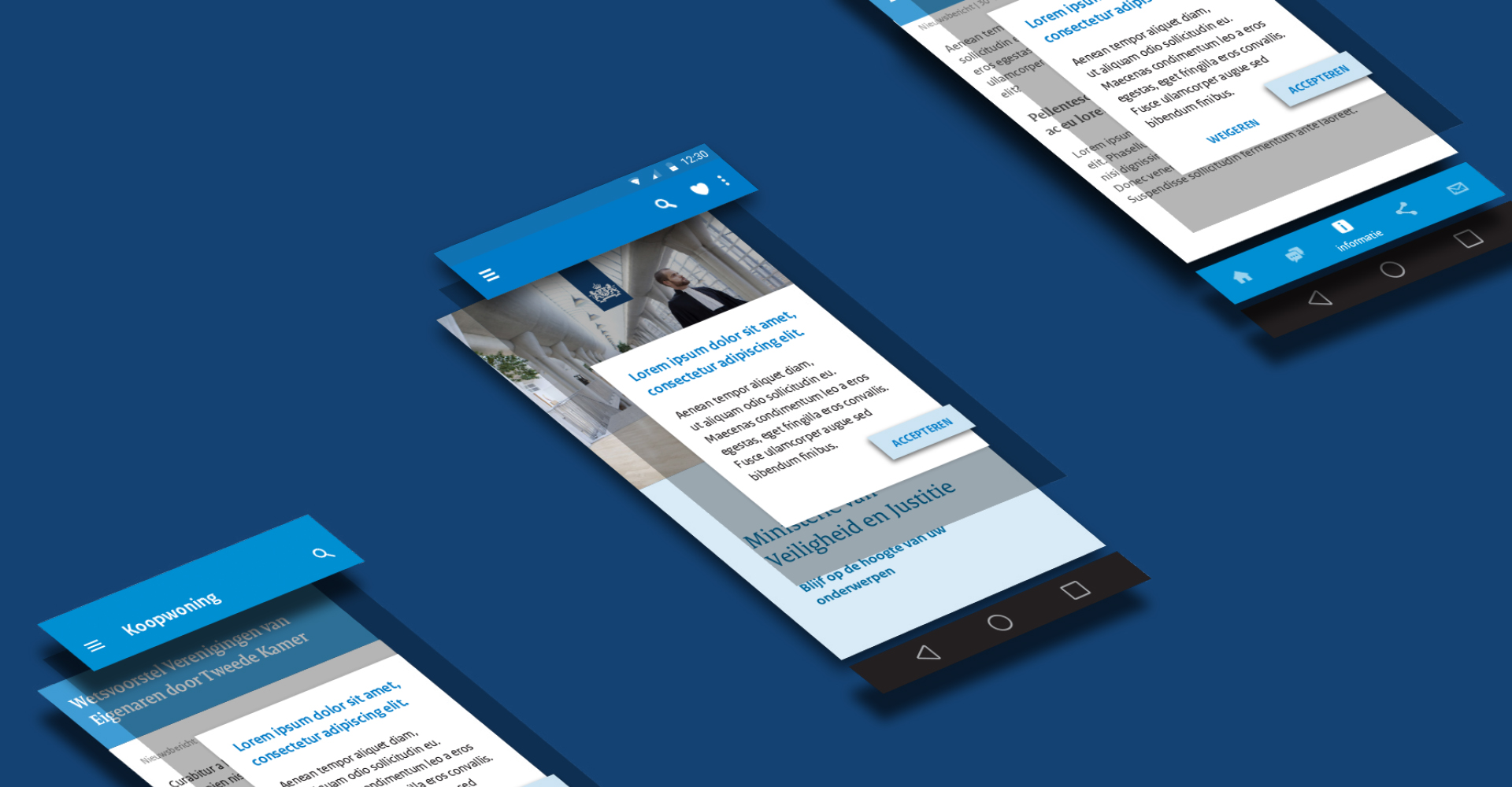 Rijksoverheid. Designtaal voor Digitaal mockup mobiel – Dutchgiraffe | Digital Creatives