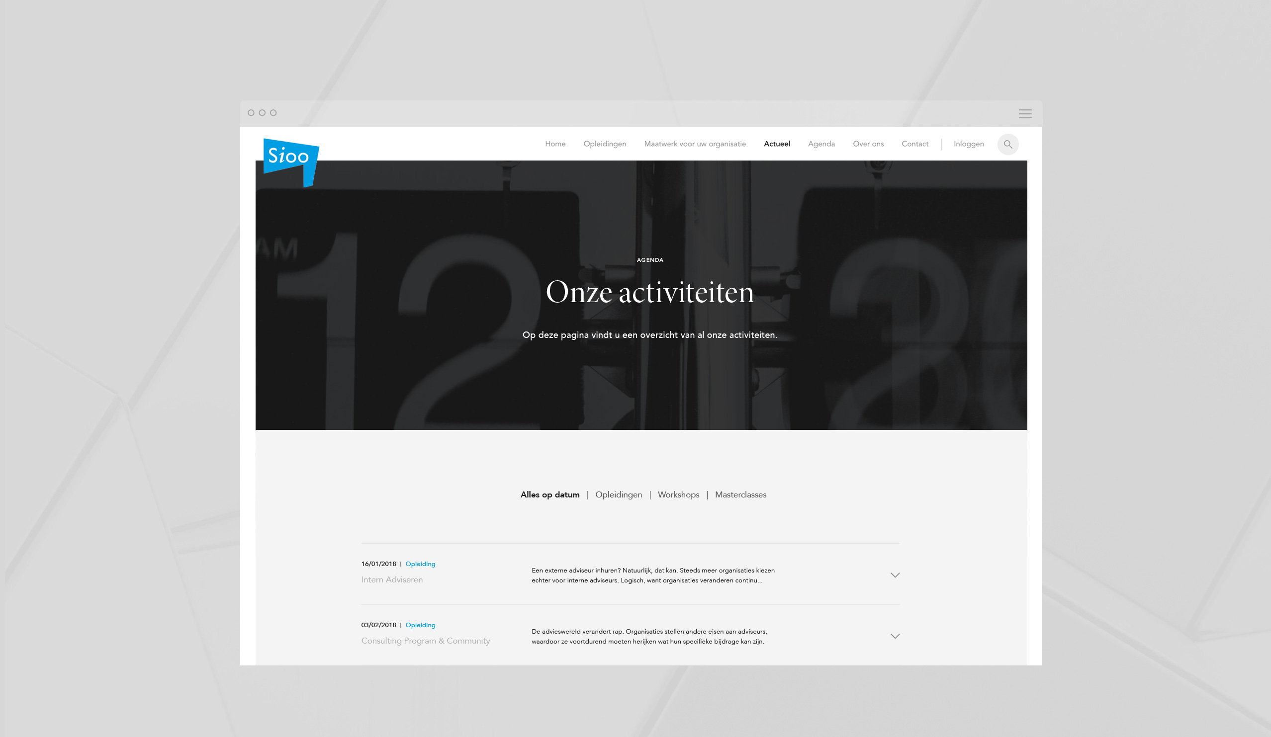 Sioo website banner – Dutchgiraffe | Digital Creatives