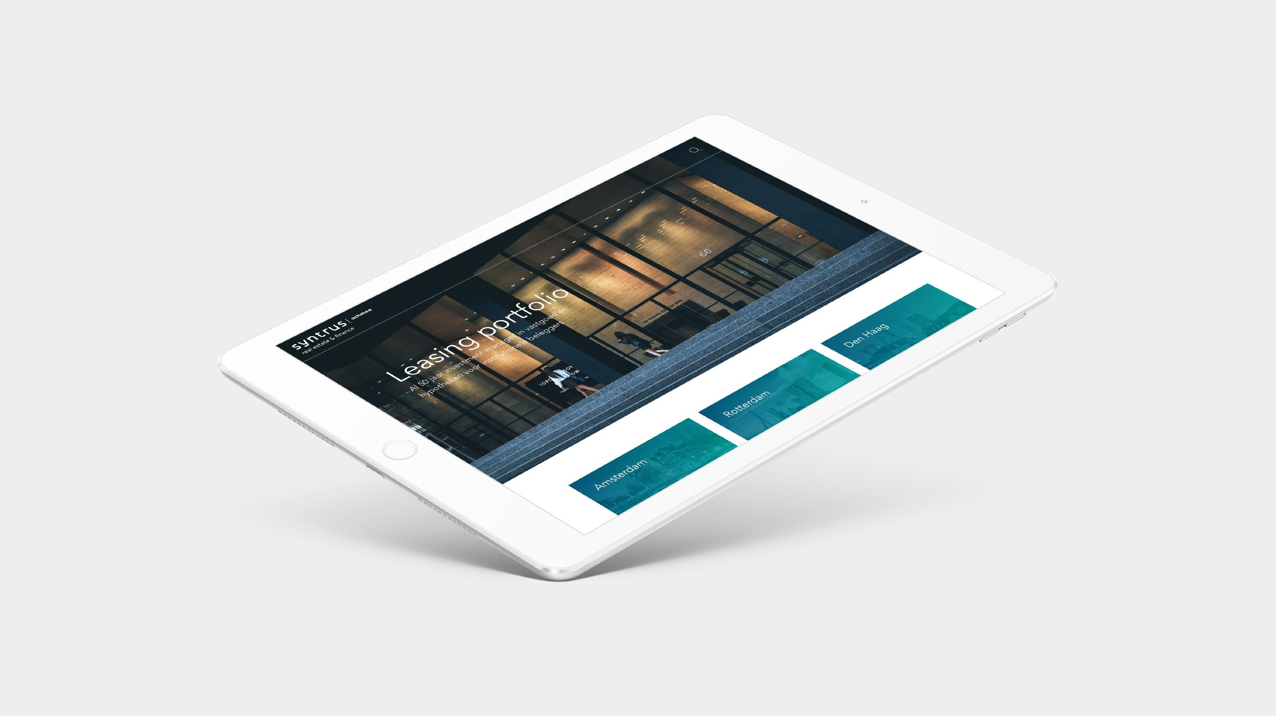 Syntrus Achmea App portfolio iPad – Dutchgiraffe | Digital Creatives