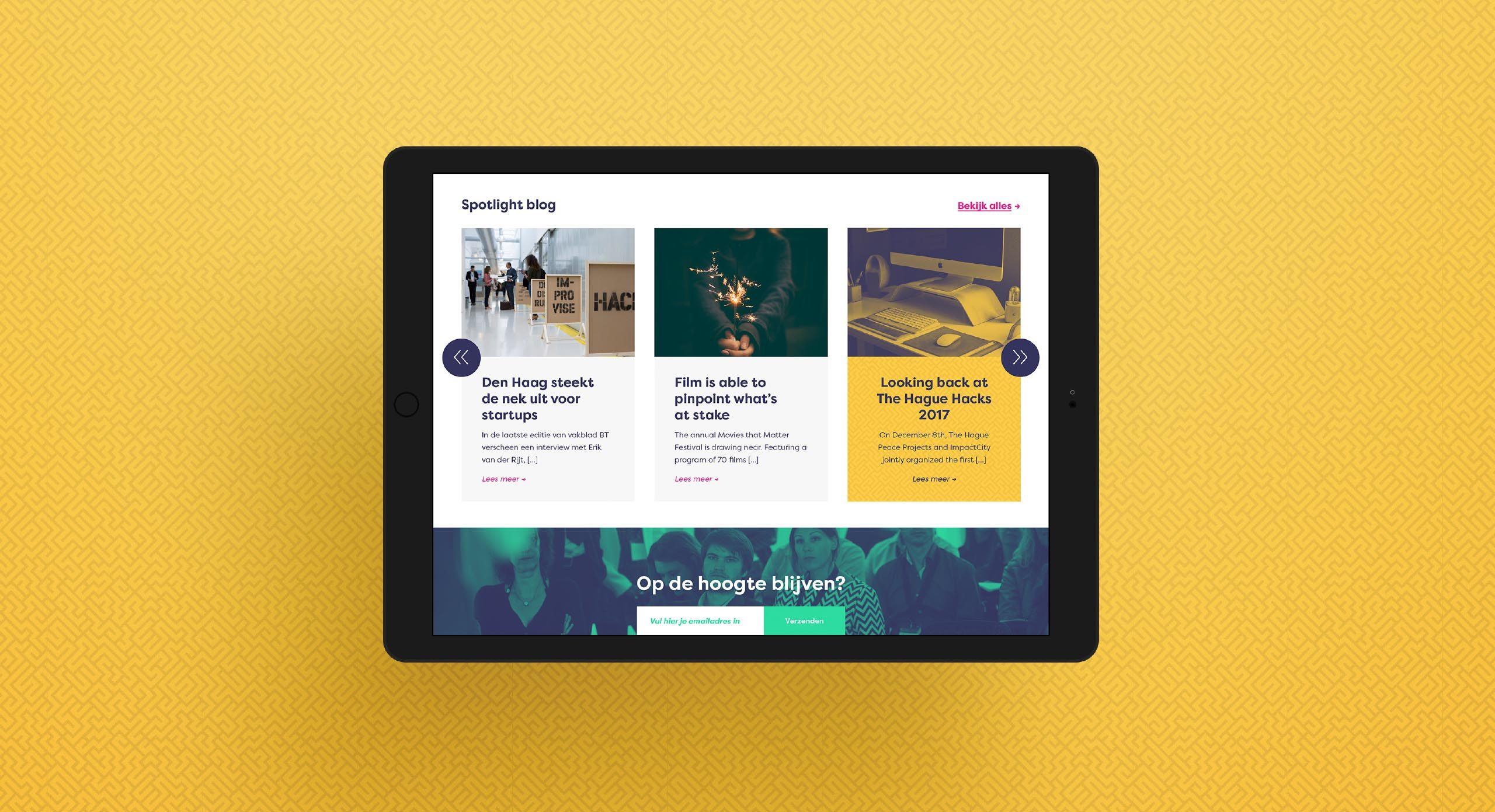 ImpactCity blog iPad – Dutchgiraffe | Digital Creatives