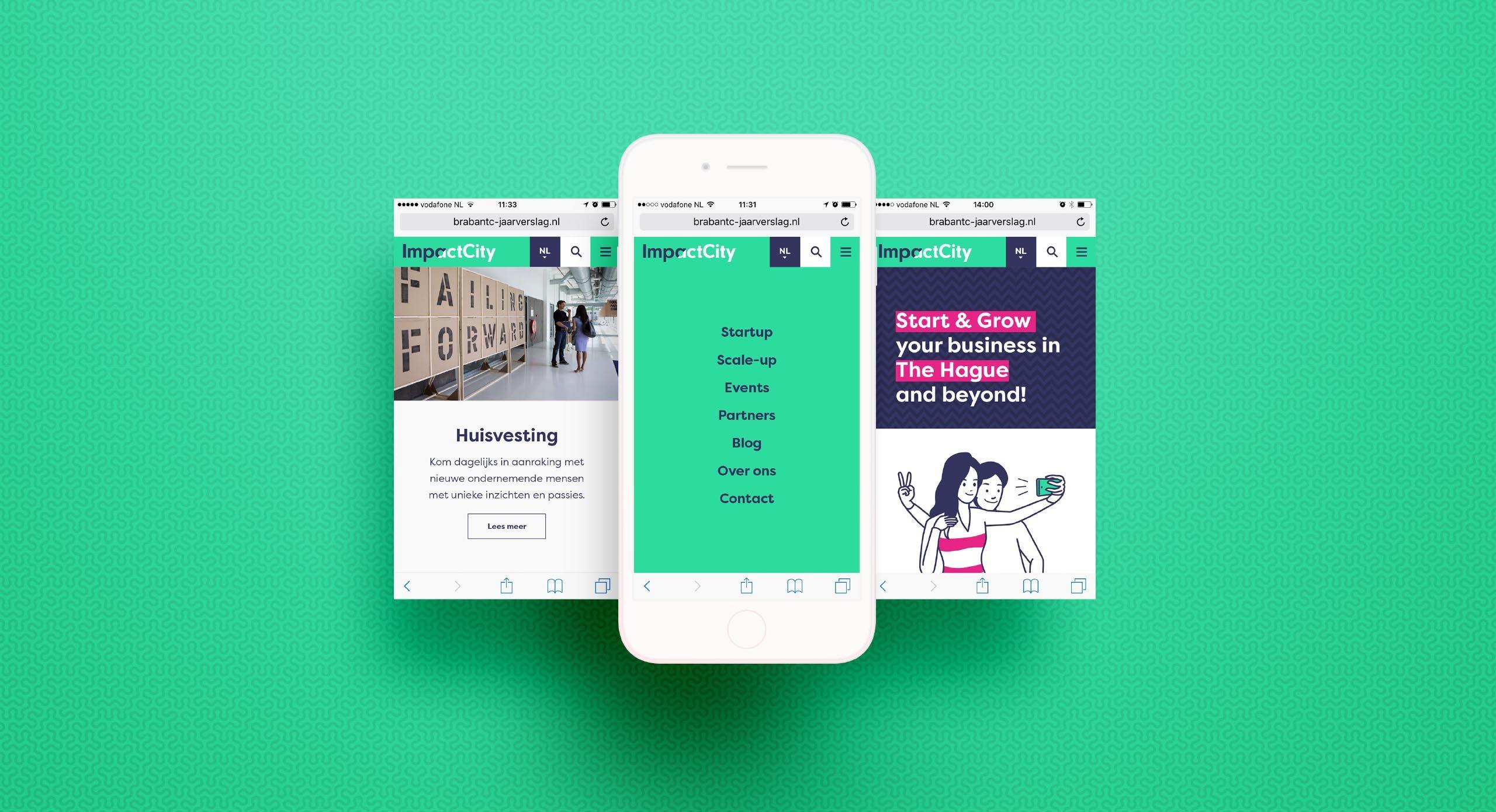 ImpactCity website mobiel – Dutchgiraffe | Digital Creatives