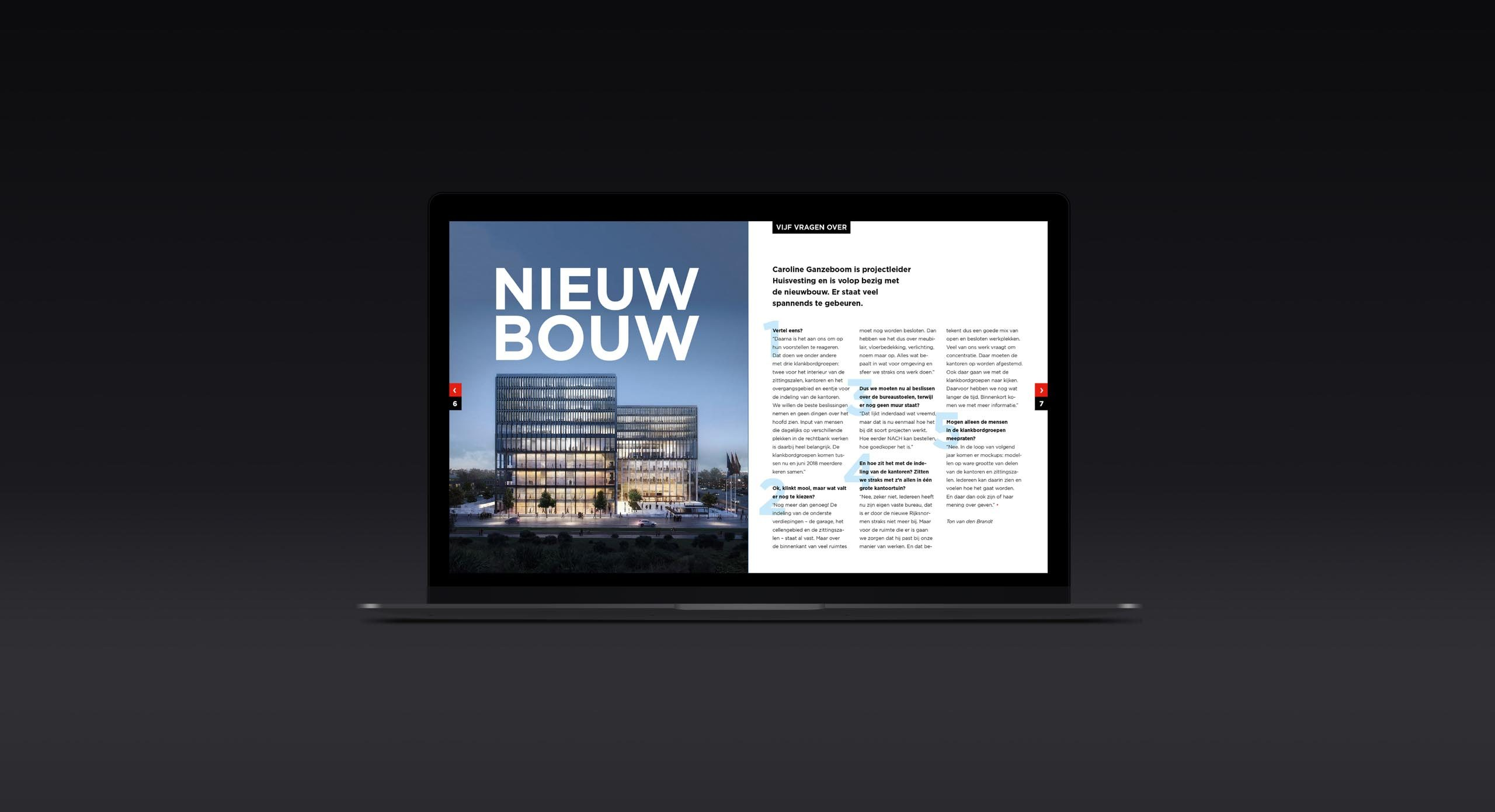 Digitale magazine Rechtbank Amsterdam op laptop – Dutchgiraffe | Digital Creatives