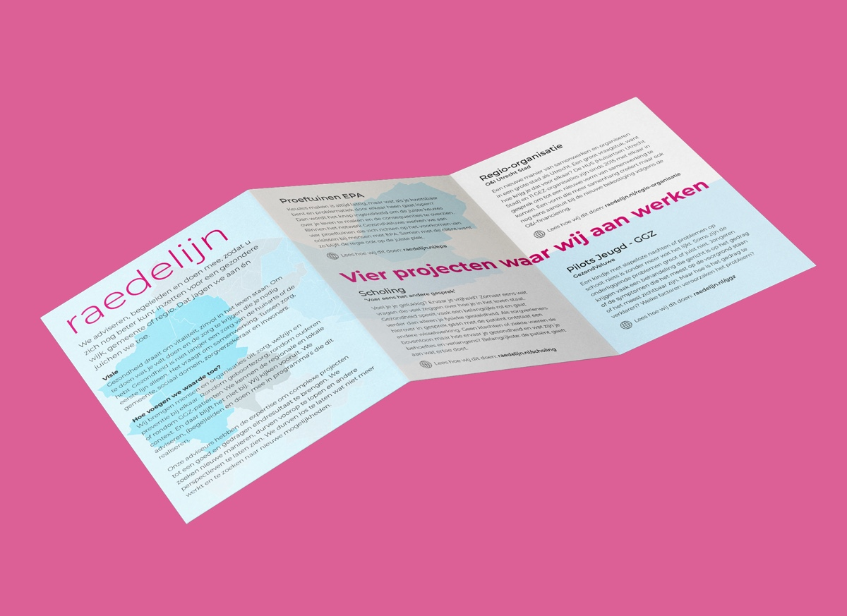 Raedelijn_drukwerk_case_Img 3a: Flyer